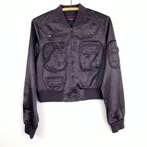 BCBG Purple Bomber Jacket